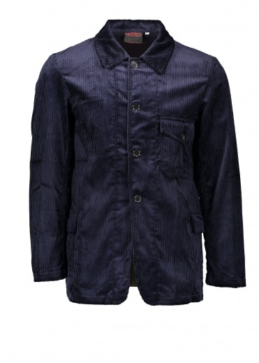 Vetra Whale Cordurroy Hunting Jacket - Navy