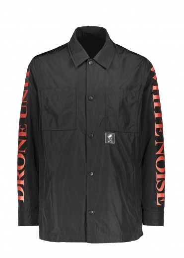 McQ by Alexander McQueen White Noise Overshirt - Darkest Black