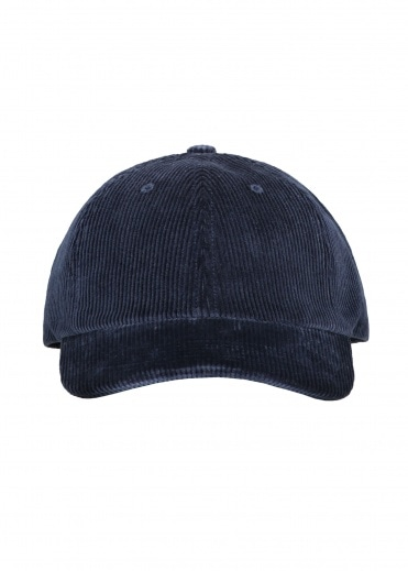 Norse Projects Wide Wale Cord Cap - Ensign Blue