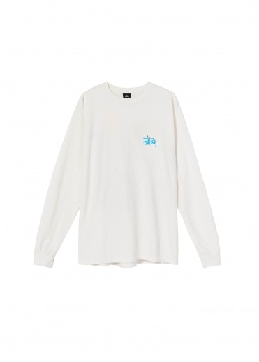 Stussy Womens Basic Pig Dyed LS Tee - Natural