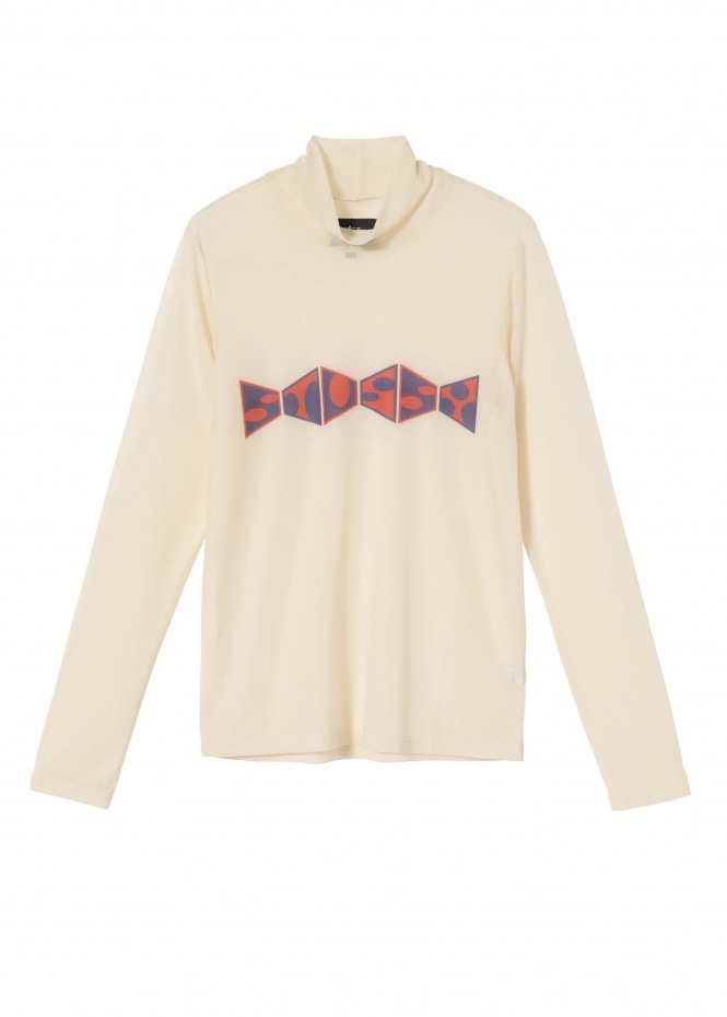 Womens Maude Mesh LS Tee - Natural