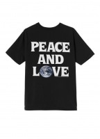 Womens Peace & Love Pig. Dyed Tee - Black