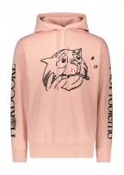 Aries Worried Cat Acid Hoodie - Pink