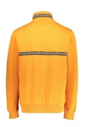 Woven Tape Mock Neck Orange S