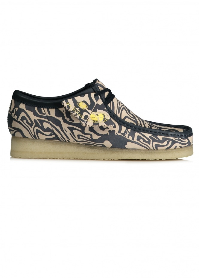 Clarks Originals Wu Wear Wallabee Lo - Navy Multi