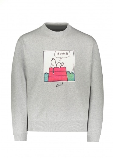 Soulland x Peanuts Snoopy House Crew Grey Melange