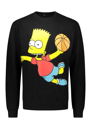 China Town Market x The Simpsons Air Bart Crew Sweatshirt - Black