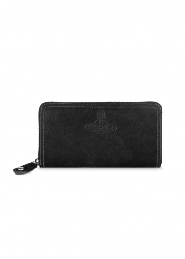 Vivienne Westwood Accessories Yasmine Classic Zip Wallet - Black