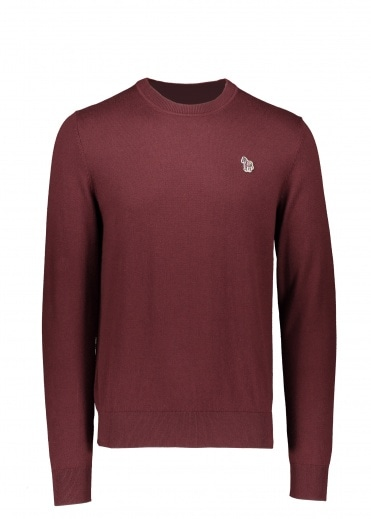 Paul Smith Zebra Crew Neck - Dark Mauve