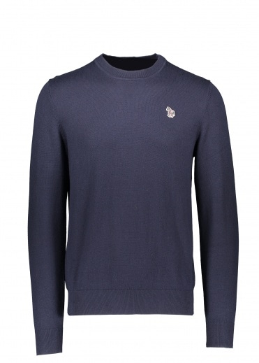 Paul Smith Zebra Crew Neck - Dark Navy