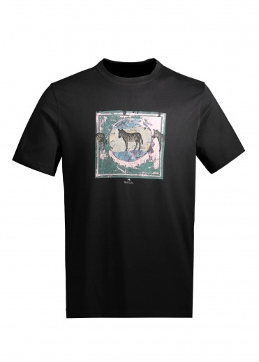 Paul Smith Zebra Stamp T-Shirt - Black