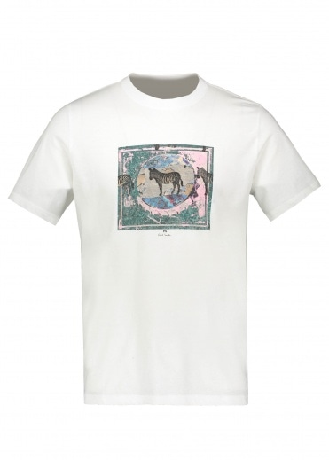 Paul Smith Zebra Stamp T-Shirt - White