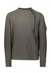 C.P. Company Zip Crew Sweatshirt Dark Olive