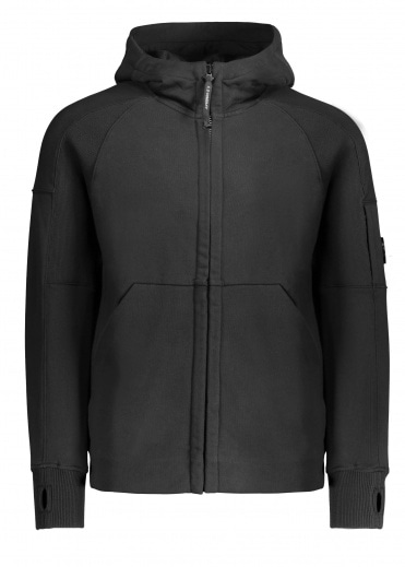 C.P. Company Zip Hooded Sweat - Black Coffee