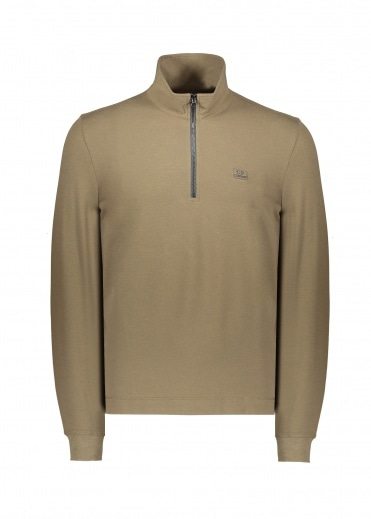 C.P. Company Zip Long Sleeve Polo 683 - Ivy Green