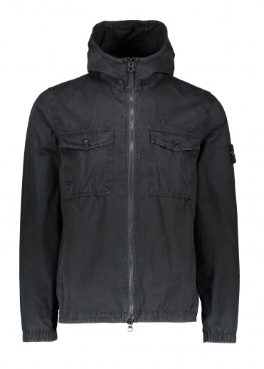 Stone Island Zip Overshirt - Black