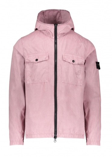 Stone Island Zip Overshirt - Rose Quartz