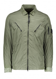 C.P. Company Zip Overshirt - Sage