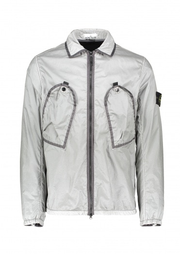 Stone Island Zip Pocket Overshirt - Smokey Grey