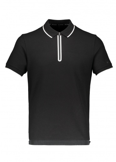 BLACKBARRETT by Neil Barrett Zip Polo - Black / White
