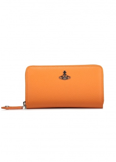 Vivienne Westwood Accessories Zip Round Wallet - Orange
