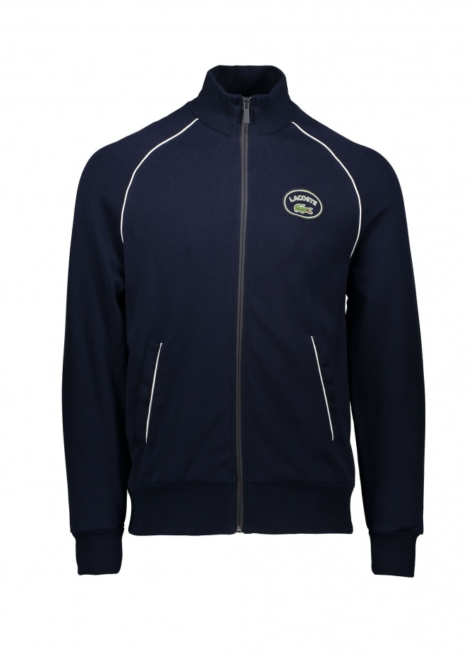 Zip Track Top - Navy Blue