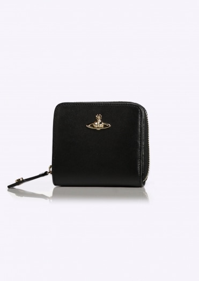 Vivienne Westwood Accessories Zip Wallet Opion Saffiano - Black